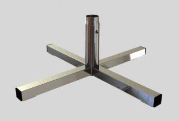 База «+»-обр., для трубы L=680mm H= 250mm