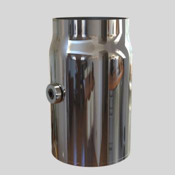 Металлическая база для d=50 трубы d=60mm H=100mm